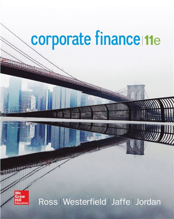 Corporate Finance 11th Edition eTextbook by Ross, Westerfield, Jaffe, Jordan