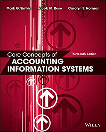 Core Concepts of Accounting Information Systems 13th Edition