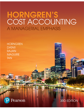 Horngren's Cost Accounting: A Managerial Emphasis, 3rd Edition