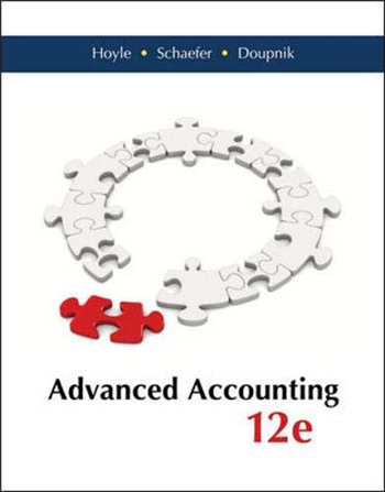 Advanced Accounting 12th Edition eTextbook by Hoyle, Schaefer, Doupnik
