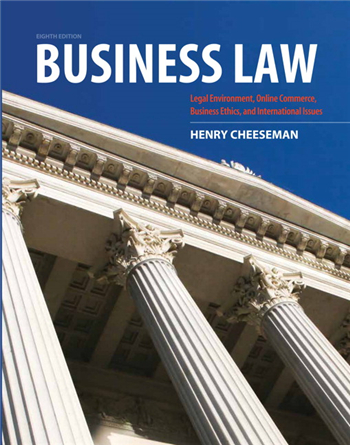 Business Law, 8th Edition eTextbook by Cheeseman