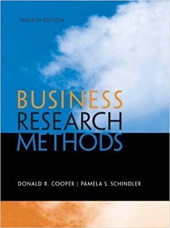 Business Research Methods, 12th Edition eTextbook by Cooper, Schindler