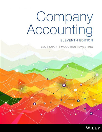 Company Accounting, 11th Edition by Leo, Knapp, McGowan, Sweeting
