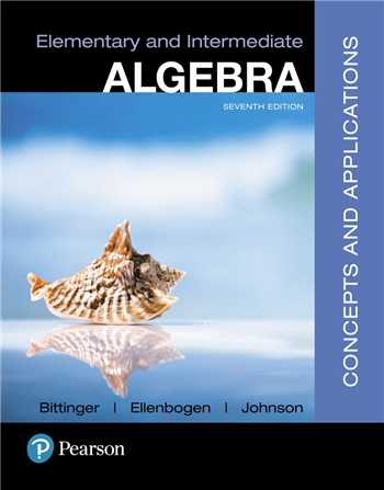 Elementary and Intermediate Algebra: Concepts and Applications 7th Edition