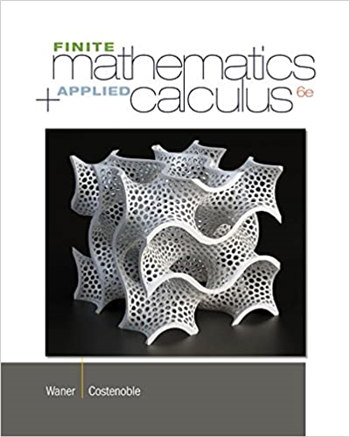 Finite Math and Applied Calculus, 6th Edition by Waner, Costenoble