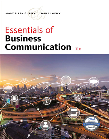 Essentials of Business Communication 11th Edition by Mary Ellen Guffey, Dana Loewy