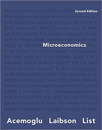 Microeconomics 2nd Edition eTextbook by Daron Acemoglu, David Laibson, John List