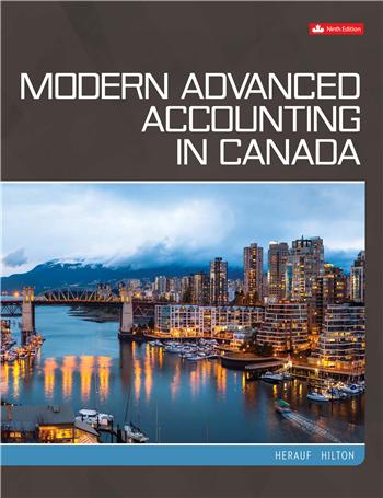 Modern Advanced Accounting in Canada, 9th Edition by Herauf, Hilton