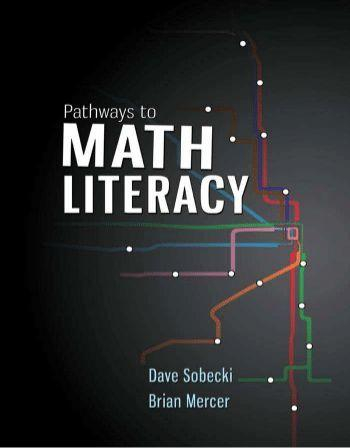 Pathways to Math Literacy 1st Edition by Sobecki, Mercer