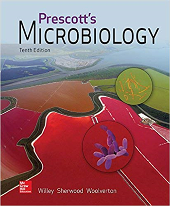 Prescott's Microbiology 10th Edition by Willey, Sherwood, Woolverton