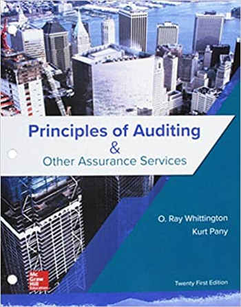 Principles of Auditing & Other Assurance Services 21st Edition