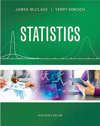Statistics, 13th Edition eTextbook by James T. McClave, Terry T. Sincich