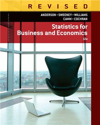 Statistics for Business & Economics, Revised, 12th Edition