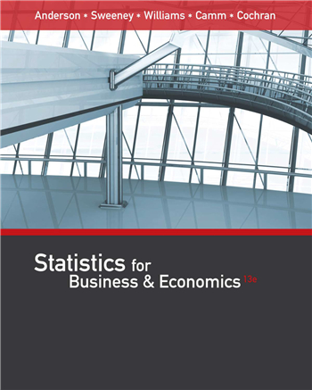 Statistics for Business & Economics, 13th Edition