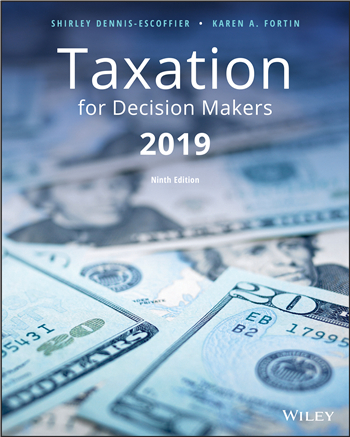 Taxation for Decision Makers, 2019 9th Edition