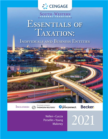 South-Western Federal Taxation 2021: Essentials of Taxation: Individuals and Business Entities 24/E