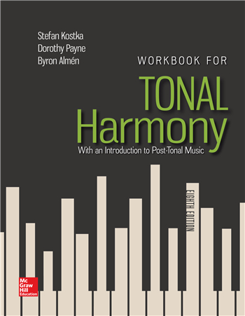 Workbook for Tonal Harmony 8th Edition eTextbook by Stefan Kostka