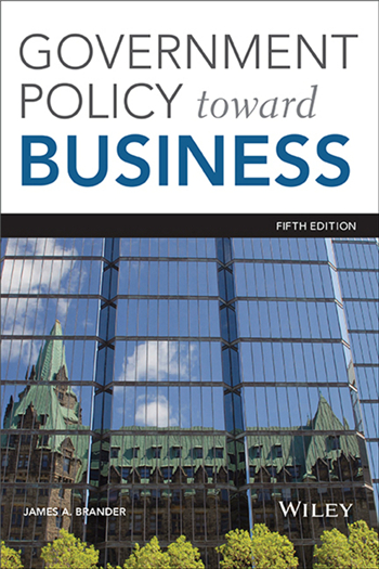 Government Policy Towards Business, 5th Edition by James A. Brander