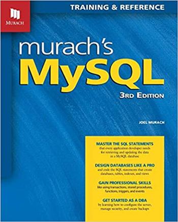 Murach's MySQL 3rd Edition eTextbook by Joel Murach