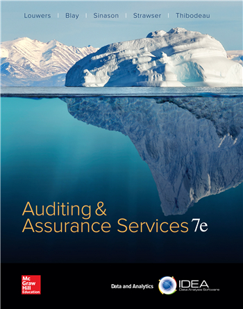 Auditing & Assurance Services 7th Edition by Louwers; Blay; Sinason; Strawser; Thibodeau