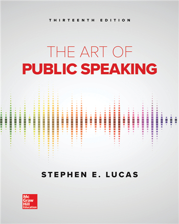 The Art of Public Speaking 13th Edition eTextbook by Stephen Lucas