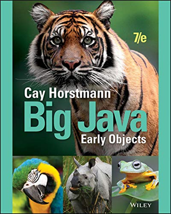 Big Java: Early Objects, 7th Edition eTextbook by Cay S. Horstmann
