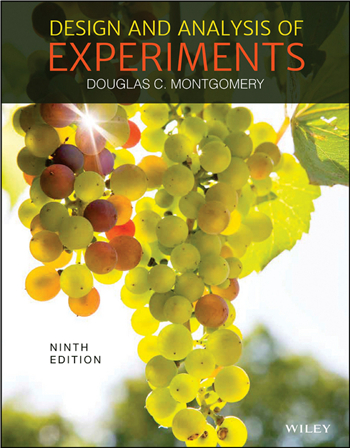 Design and Analysis of Experiments, 9th Edition eTextbook by Douglas C. Montgomery