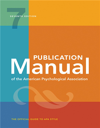 Publication Manual of the American Psychological Association, 7th Edition eTextbook by American Psychological Association