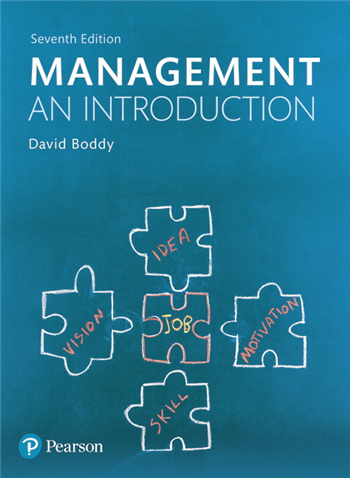 Management: An Introduction 7th Edition eTextbook by David Boddy