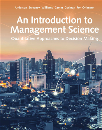 An Introduction to Management Science: Quantitative Approach 15th Edition