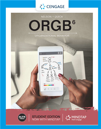 ORGB - Organisational Behaviour, 6th Edition eTextbook by Debra L. Nelson; James Campbell Quick
