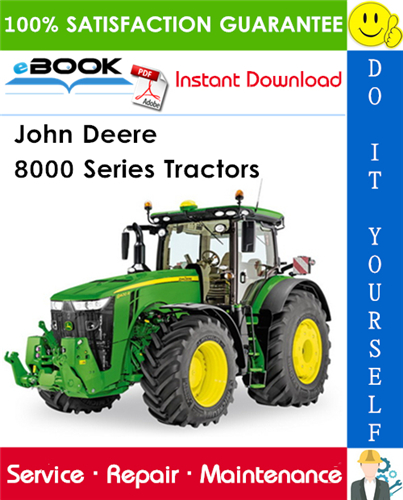 John Deere 8000 Series Tractors Service Repair Manual