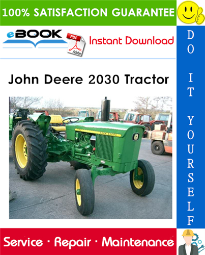 John Deere 2030 Tractor Technical Manual