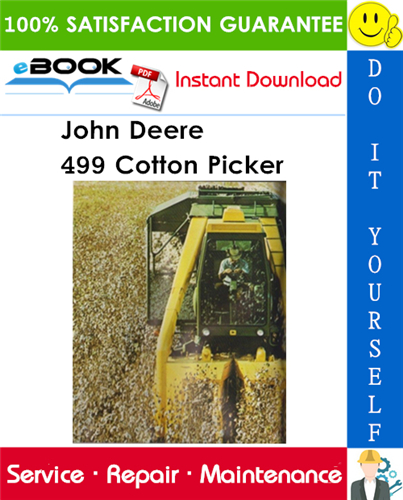 John Deere 499 Cotton Picker Technical Manual