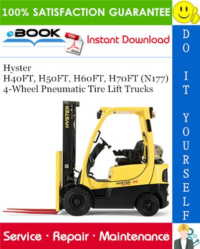 Hyster H40FT H50FT H60FT H70FT N177 4 Wheel Pneumatic