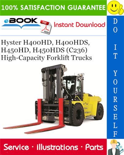 Hyster H400HD, H400HDS, H450HD, H450HDS (C236) High-Capacity