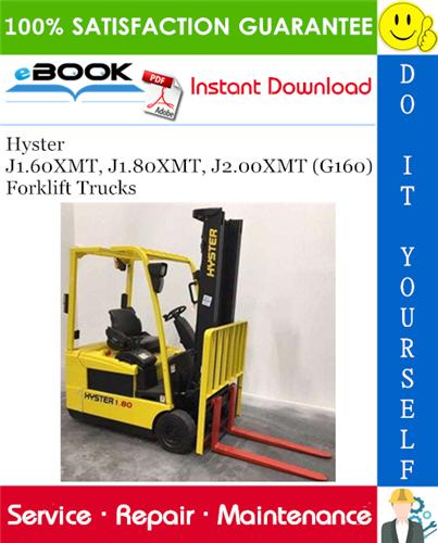 Hyster J1 60XMT, J1 80XMT, J2 00XMT (G160) Forklift Trucks
