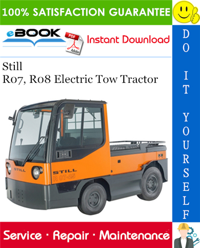 Still R07  R08 Electric Tow Tractor Service Repair Manual