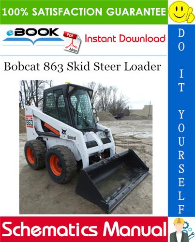 Bobcat 863 Skid Steer Loader Wiring  Hydraulic  Hydrostatic Schematic  U2013 Pdf Download