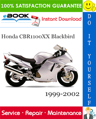 Honda Cbr1100xx Blackbird Motorcycle Service Repair Manual