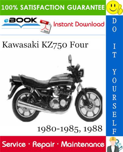 Kawasaki Kz750 Four Motorcycle Service Repair Manual 1980
