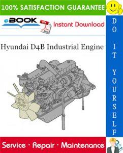 Hyundai D4B Industrial Engine Service Repair Manual