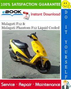 Malaguti F12 & Malaguti Phantom F12 Liquid Cooled Service Repair Manual