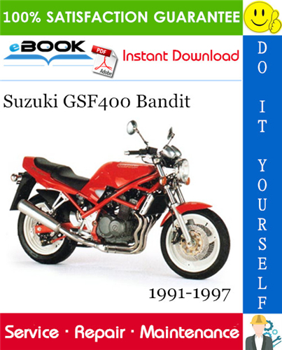 Suzuki Gsf400 Bandit Motorcycle Service Repair Manual 1991