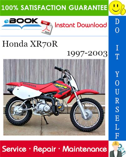 Honda Xr70r Motorcycle Service Repair Manual 1997