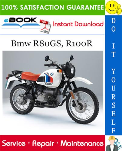 Bmw R80GS, R100R Motorcycle Service Repair Manual