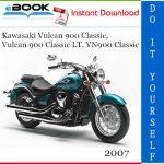2007 Kawasaki Vulcan 900 Classic, Vulcan 900 Classic LT, VN900 Classic Motorcycle Service Repair Manual