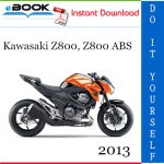 2013 Kawasaki Z800, Z800 ABS Motorcycle Service Repair Manual