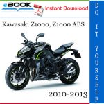 Kawasaki Z1000, Z1000 ABS Motorcycle Service Repair Manual