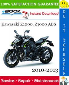 Kawasaki Z1000, Z1000 ABS Motorcycle Service Repair Manual